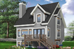 Traditional House Plan Rear Photo 02 - 032D-0466 | House Plans and More