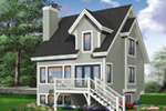 Traditional House Plan Rear Photo 03 - 032D-0466 | House Plans and More