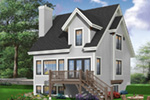 Traditional House Plan Rear Photo 04 - 032D-0466 | House Plans and More