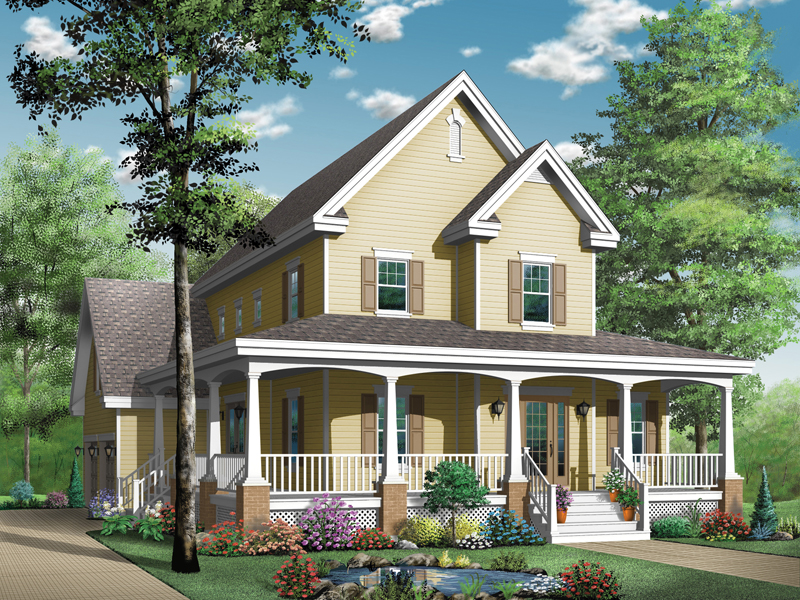 Victorian House Plan Front Image - 032D-0478 | House Plans and More
