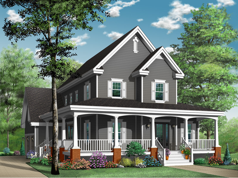 Victorian House Plan Front Photo 01 - 032D-0478 | House Plans and More