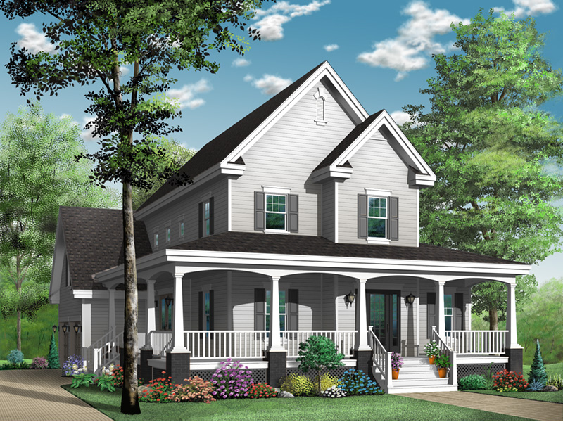 Traditional House Plan Front Photo 02 - 032D-0478 | House Plans and More