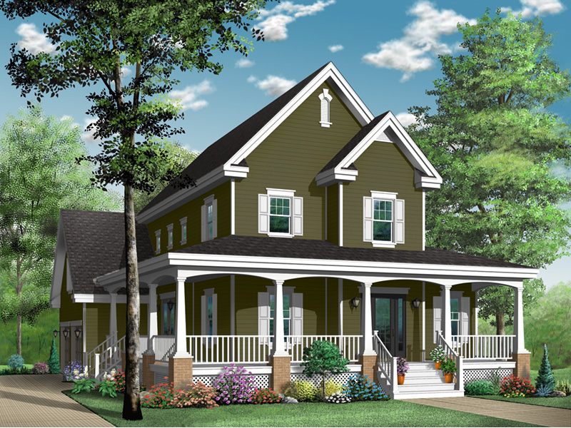 Victorian House Plan Front Photo 03 - 032D-0478 | House Plans and More