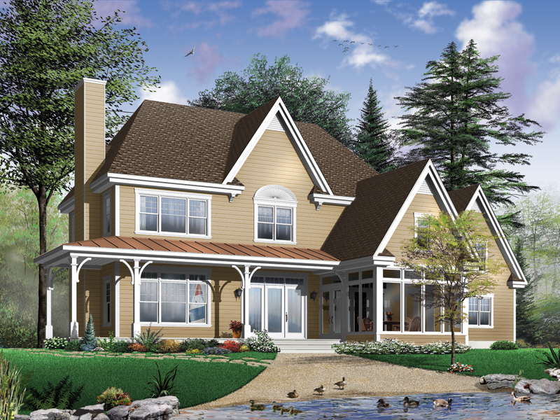 Waterfront Home Plan Front Photo 01 032D-0481