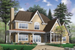 Modern House Plan Front Photo 01 - 032D-0481 | House Plans and More