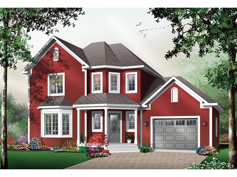 Farmhouse Plan Front Image - 032D-0484 | House Plans and More