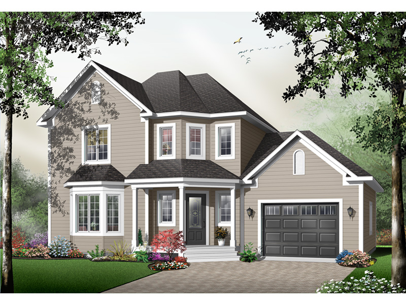 Farmhouse Plan Front Photo 03 - 032D-0484 | House Plans and More