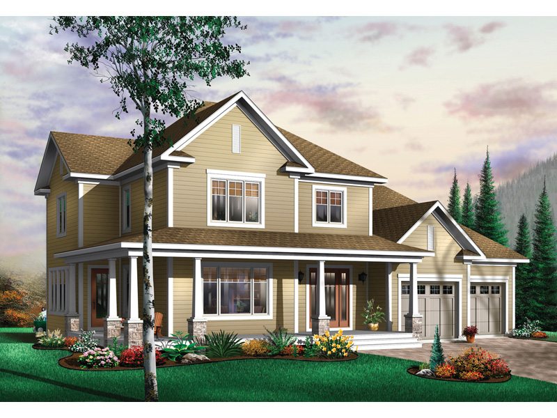 Arts & Crafts House Plan Front Image - 032D-0485 | House Plans and More