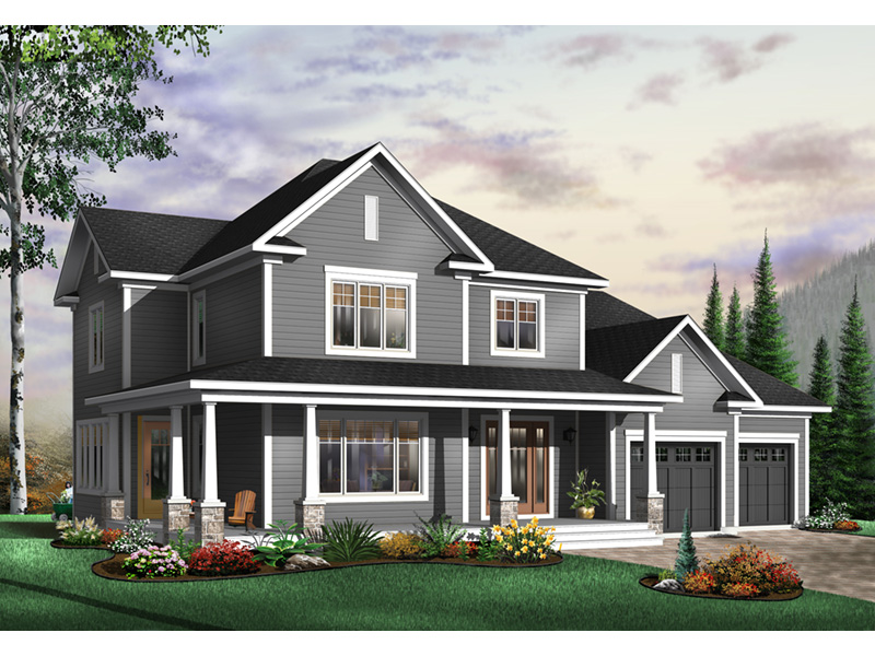 Arts & Crafts House Plan Front Photo 01 - 032D-0485 | House Plans and More