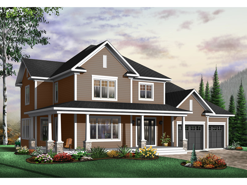 Arts & Crafts House Plan Front Photo 02 - 032D-0485 | House Plans and More