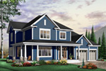 Arts & Crafts House Plan Front Photo 03 - 032D-0485 | House Plans and More