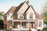 Arts & Crafts House Plan Front Image - 032D-0497 | House Plans and More