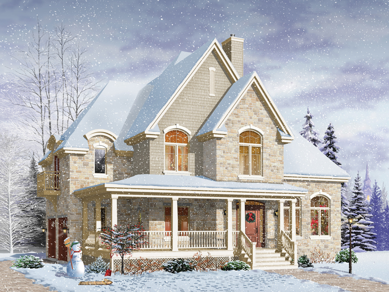 Farmhouse Plan Front Image - 032D-0497 | House Plans and More