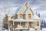 Victorian House Plan Front Image - 032D-0497 | House Plans and More