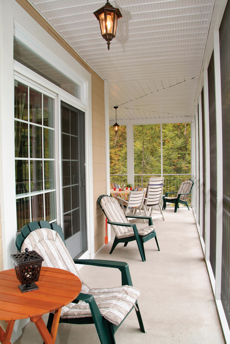 Lake House Plan Screened Porch Photo 01 032D-0503