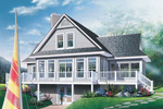 Waterfront Home Plan Front Image - 032D-0513 | House Plans and More