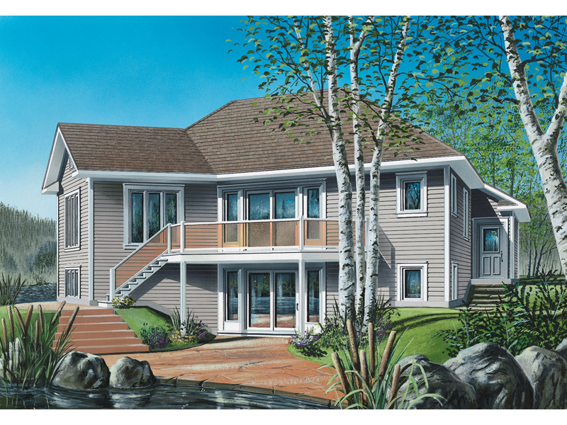 Ranch House Plan Front of Home - 032D-0514 | House Plans and More