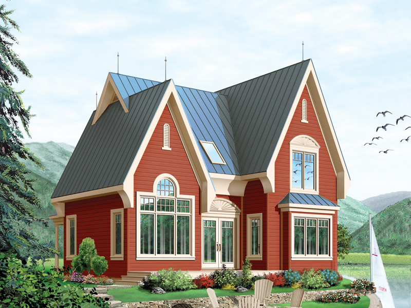 Mountain Home Plan Front Image - 032D-0518 | House Plans and More