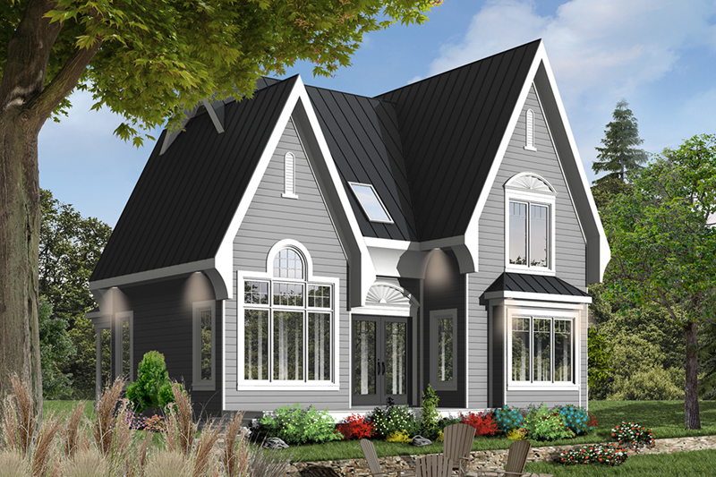 032D-0518-front-main-8 Ranch House Plan With Steep Roof on house plans with dormers, house plans with shingles, house plans with chimneys, house plans with bay windows, house plans with skylights, house plans with siding,
