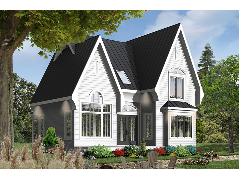 Mountain Home Plan Front Photo 01 - 032D-0518 | House Plans and More