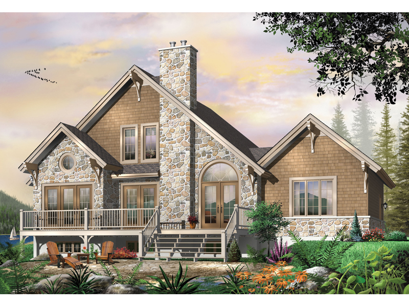 Craftsman House Plan Front Image 032D-0520