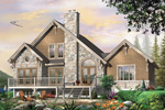 Waterfront Home Plan Front Image - 032D-0520 | House Plans and More