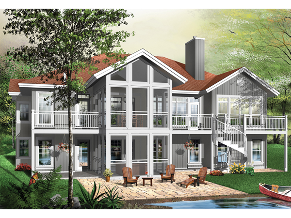 Lenoxville a frame home plan 032d 0521 house plans and more for Modern waterfront house plans