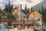 Mountain Home Plan Front Image - 032D-0522 | House Plans and More