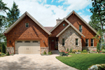 Rustic Shingle Sided Luxury House With Stone Accents