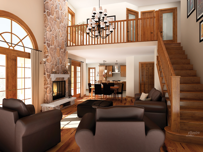 Mountain Home Plan Living Room Photo 01 032D-0522