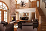 Rustic Home Plan Living Room Photo 01 - 032D-0522 | House Plans and More