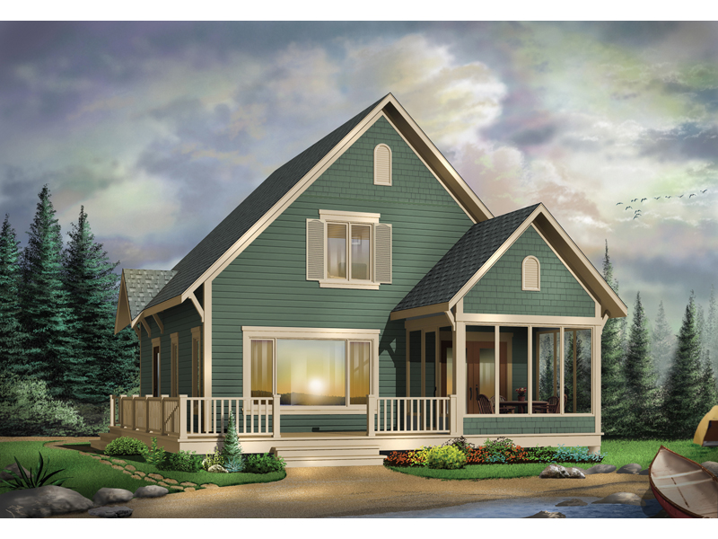 Waterfront Home Plan Front Image - 032D-0525 | House Plans and More