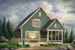 Cabin and Cottage Plan Front Image - 032D-0525 | House Plans and More