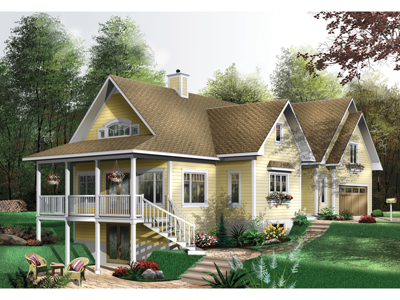 Country House Plan Front of Home - 032D-0527 | House Plans and More
