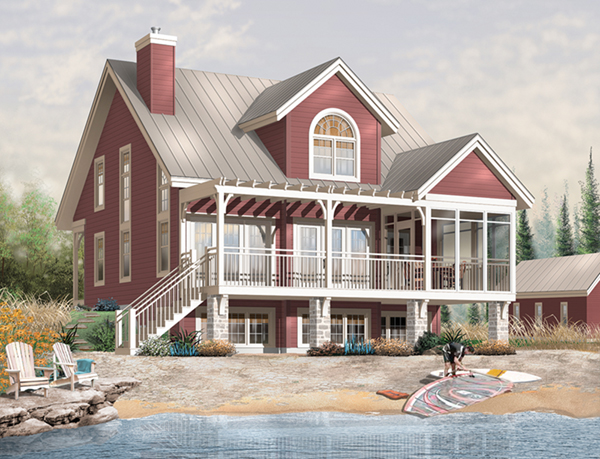 Permalink to waterfront house plans small