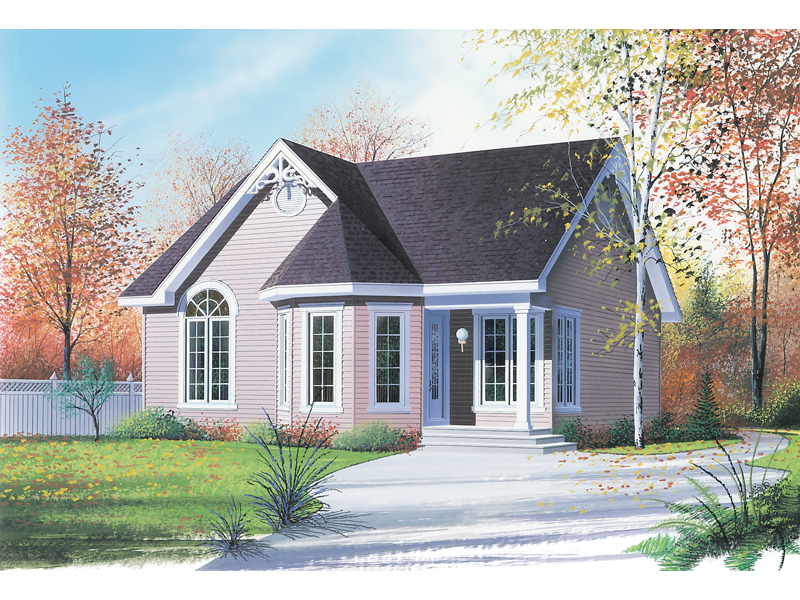 Victorian House Plan Front of Home - 032D-0536 | House Plans and More
