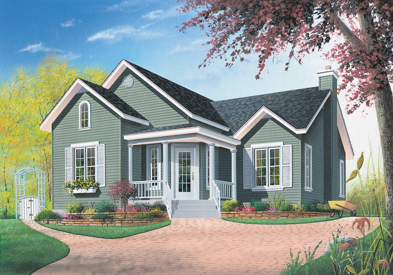 Ranch House Plan Front Image - 032D-0539 | House Plans and More