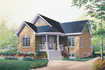 Traditional Home Has Angled Entry For Added Interest