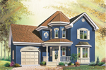 Victorian House Plan Front Image - 032D-0545 | House Plans and More
