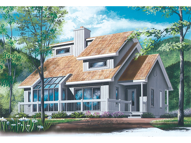 Bungalow House Plan Front of Home - 032D-0548 | House Plans and More