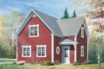 Quaint Country Style Cottage With Angled Entry