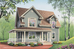 Farmhouse Home Plan Front Image - 032D-0552 | House Plans and More