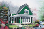 Farmhouse Plan Front Image - 032D-0553 | House Plans and More