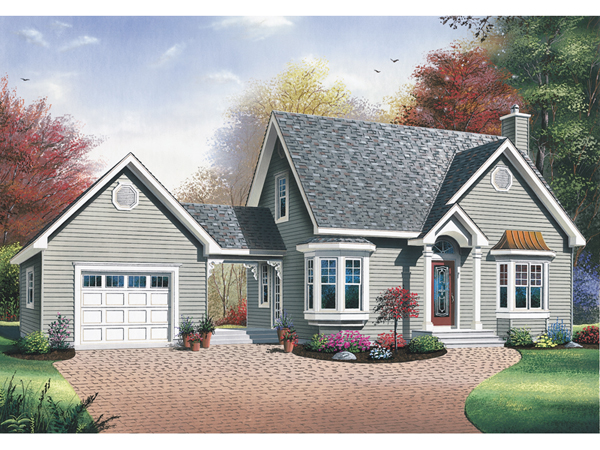 Blue bell country home plan 032d 0555 house plans and more for House plans with detached garage and breezeway