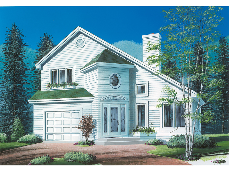 Modern House Plan Front of Home - 032D-0557 | House Plans and More