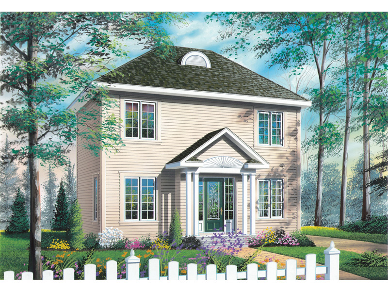 Colonial House Plan Front Image - 032D-0562 | House Plans and More