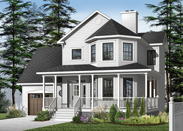 Cromwell farm two story home plan 032d 0573 house plans for 2 story farmhouse