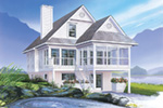 Waterfront House Plan Front Image - 032D-0580 | House Plans and More