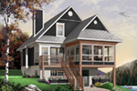 Waterfront House Plan Front Photo 01 - 032D-0580 | House Plans and More