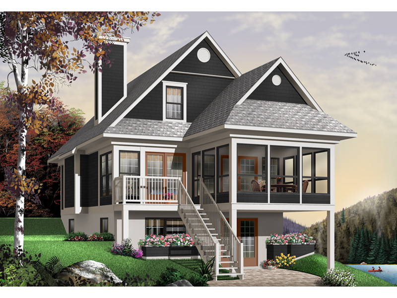 Traditional House Plan Front Photo 02 - 032D-0580 | House Plans and More